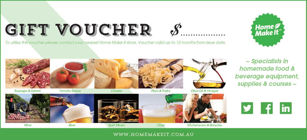 Home Make It Gift Voucher   $.  Make Voucher