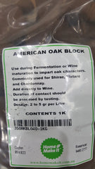 American Oak Mini Blocks 1KG Medium for wine and spirits