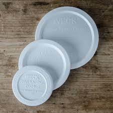 Lid keep fresh snap on cap suits Weck preserving jars SMALL - white only