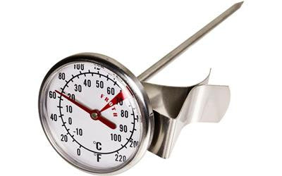 Milk Frothing Thermometer For Coffee Making - 44mm Dial