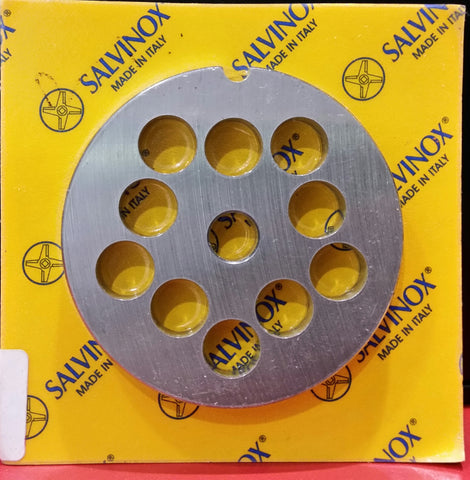 #12 Mincer Plate Stainless Steel Salvinox - 12mm hole