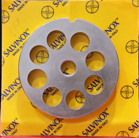 #12 Mincer Plate Stainless Steel Salvinox - 14mm hole