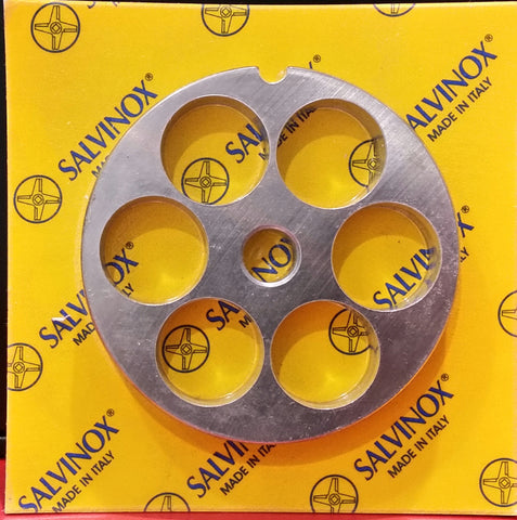 #12 Mincer Plate Stainless Steel Salvinox - 20mm hole