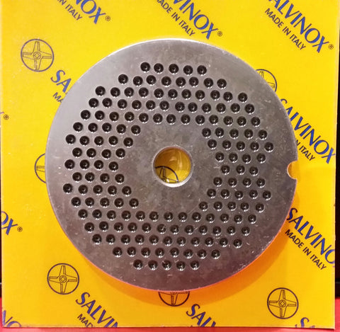 #12 Mincer Plate Stainless Steel Salvinox - 3mm hole