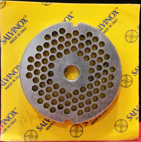 #12 Mincer Plate Stainless Steel Salvinox - 4.5mm hole