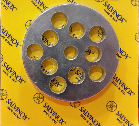 #22 Mincer Plate Stainless Steel Salvinox - 14mm hole