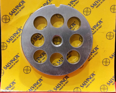 #22 Mincer Plate Stainless Steel Salvinox - 16mm hole