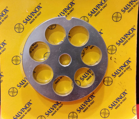 #22 Mincer Plate Stainless Steel Salvinox - 20mm hole
