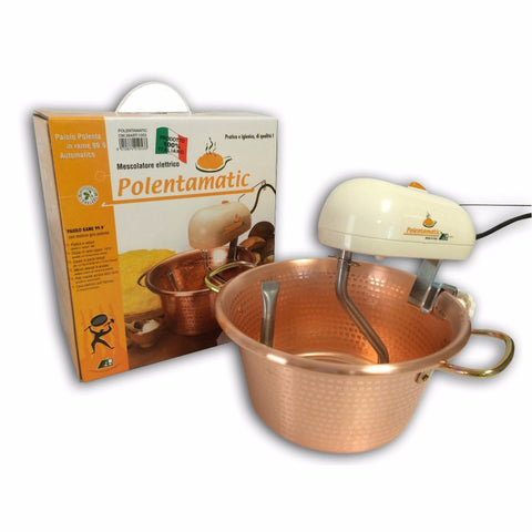 Polenta Maker - Automatic Copper Cooking Pot - 26 cm