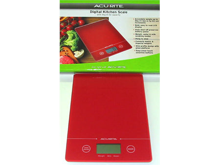 D.Line Slim Line Electronic Scale Red