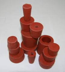 Bung Rubber 30mm to 40mm Diam - Bored
