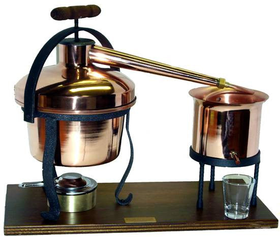 Copper Bar Still 5Lt with Copper Condenser and Thermometer