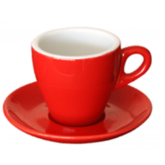Coffee Cups & Saucers (Gift Boxed) Red