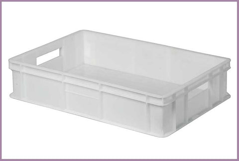 Crate 24 Litre Plastic Full Bottom & Sides 60x40x13cm