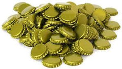 Gold Caps for Beer Bottles - 200 pack