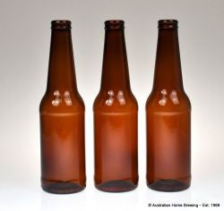 330ml Beer bottles - Box of 30 - Crown Finish 26mm Seal Amber Glass