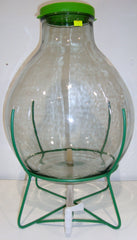 Demijohn 15Lt Wide Neck With Iron Frame & Tap
