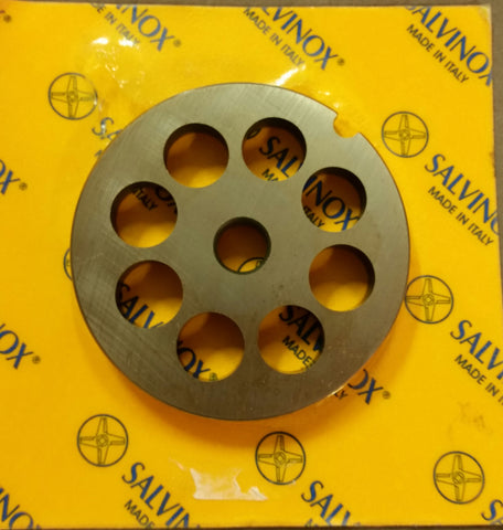 #8 Mincer Plate Stainless Steel Salvinox - 12mm hole