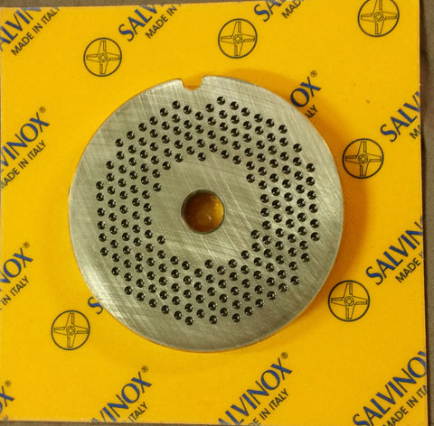 #8 Mincer Plate Stainless Steel Salvinox - 2mm hole