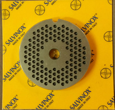 #8 Mincer Plate Stainless Steel Salvinox - 3m hole