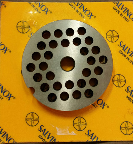 #8 Mincer Plate Stainless Steel Salvinox - 6mm hole
