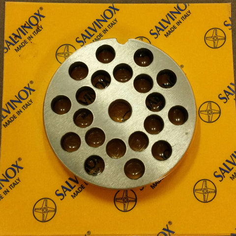 #8 Mincer Plate Stainless Steel Salvinox - 8mm hole