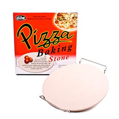 D.Line Ceramic Pizza Stone With Rack - 33cm dia