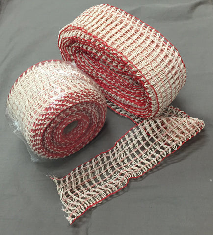Netting ITAL with Red & White Strands - Size #24 - 10mt Roll