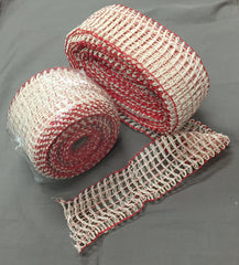 Netting Heavy Duty with White & Extra Red Strands Size #24 - 10mt Roll