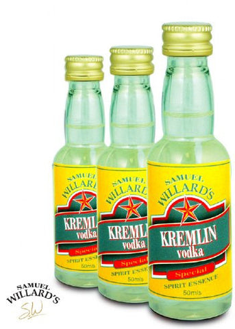 Samuel Willards Gold Star Kremlin Vodka 50mls