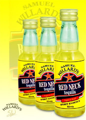 Samuel Willards Gold Star Red Neck Tequila 50mls