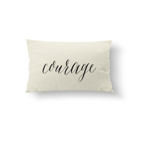Courage - Black Pillow