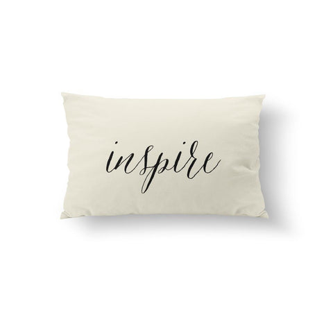 Inspire - Black Pillow