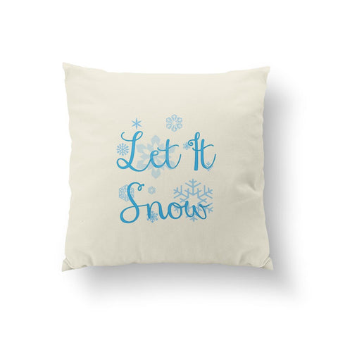 Let it snow - Blue Pillow