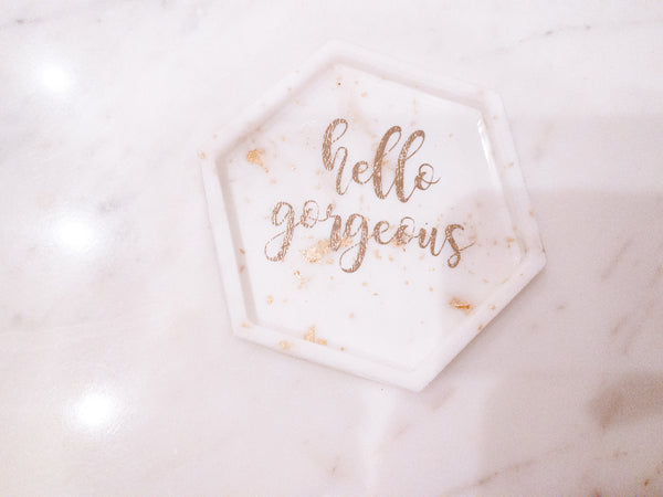 "The ""Hello Gorgeous"" Jewelry Tray - The Gossip Label x Art of Clay"