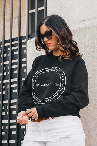 """The Gossip Label"" Classic Crewneck Sweater"
