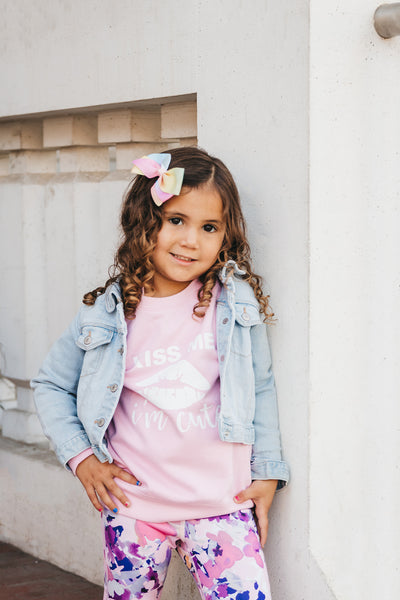 "The ""KISS ME I'M CUTE"" Gossip Kids Sweater 