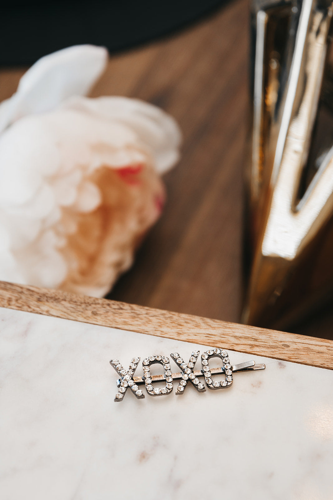 "The ""XOXO"" Rhinestone Hair Clip"