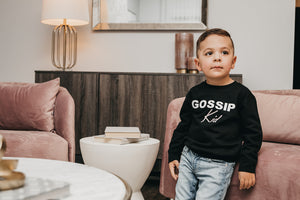 """Gossip Kid"" Crewneck Sweater 