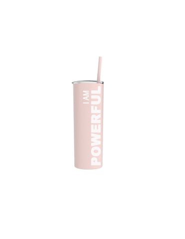 """I am Powerful"" Skinny Tumbler"