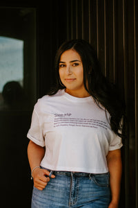 "The ""Definition"" Crop Tee"