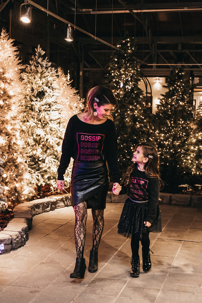 "The ""Mommy & Me"" Glitter Sweater Set"