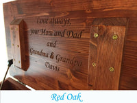 PERSONALIZED CLASSIC Wood Toy Box, Toy Chest
