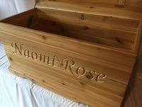 PERSONALIZED CEDAR Chest, Hope Chest, Toy Box