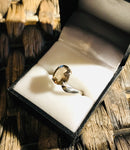 Smokey Quartz ring sterling 925 - Divine Gift Olinda