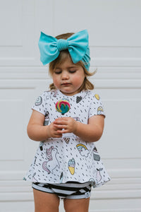 Unicorn Peplum Top for Baby, Toddler & Kids