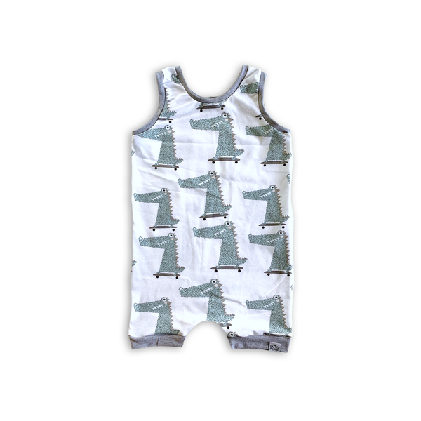 Tank Romper in Hipster Gators