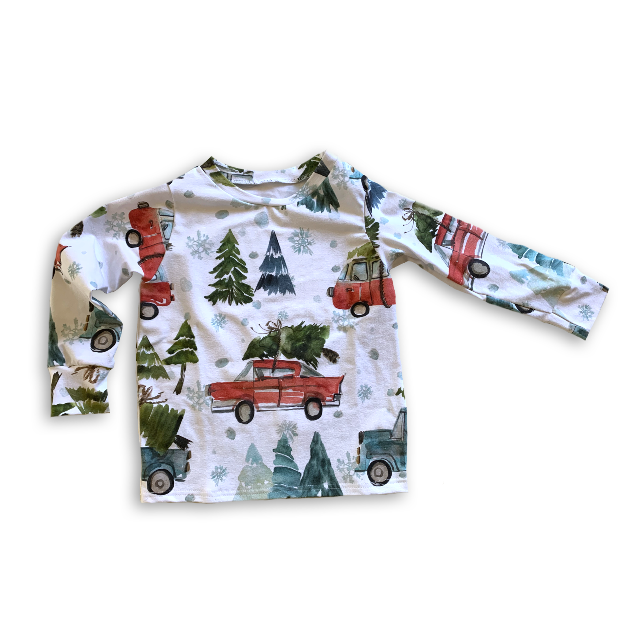 Crew Neck Pullover Christmas Cars