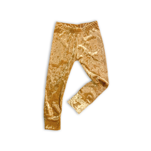 Slim Leggings in Champagne Fizz Velvet