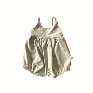 Bellevue Bubble Romper in Oat (choice of sleeve length)